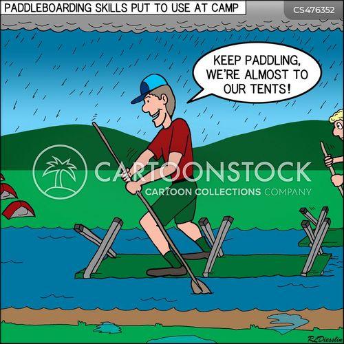 paddle board cartoon