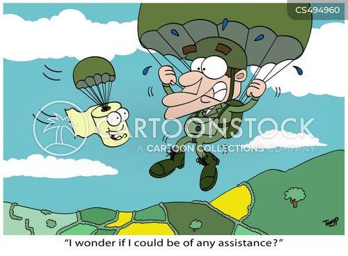 paratrooper cartoon