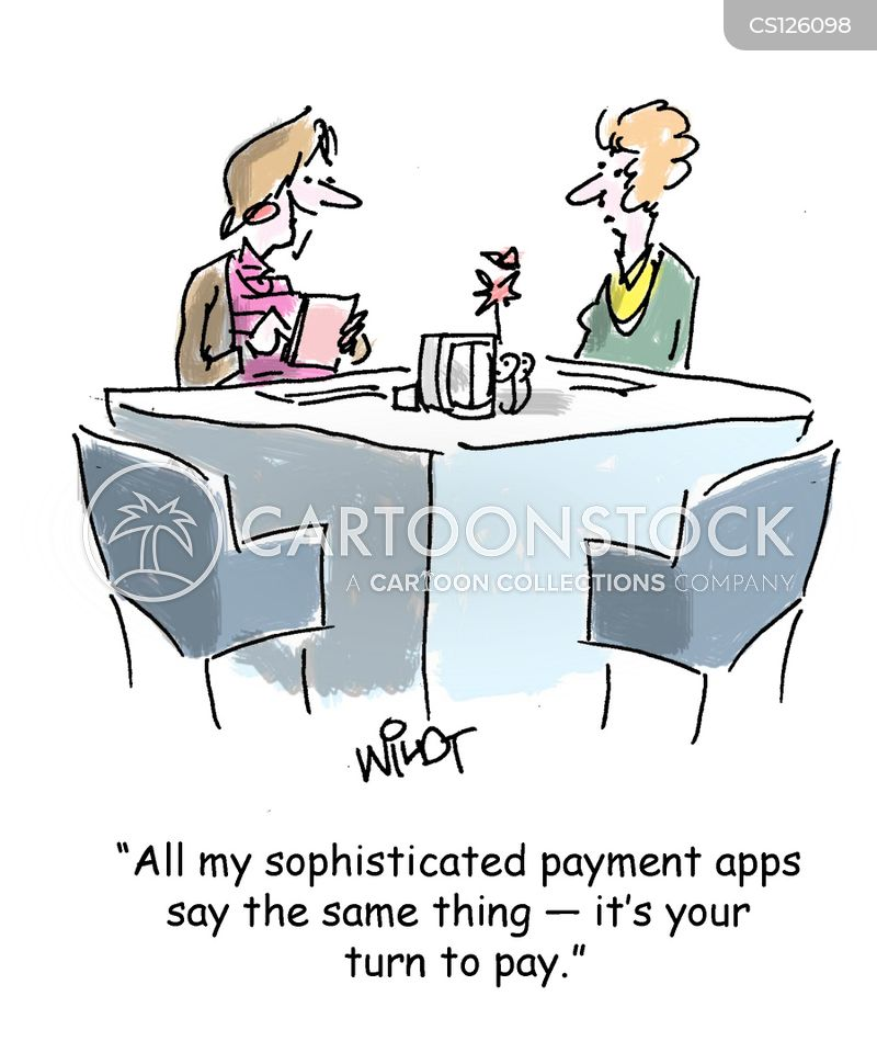 payment app cartoon
