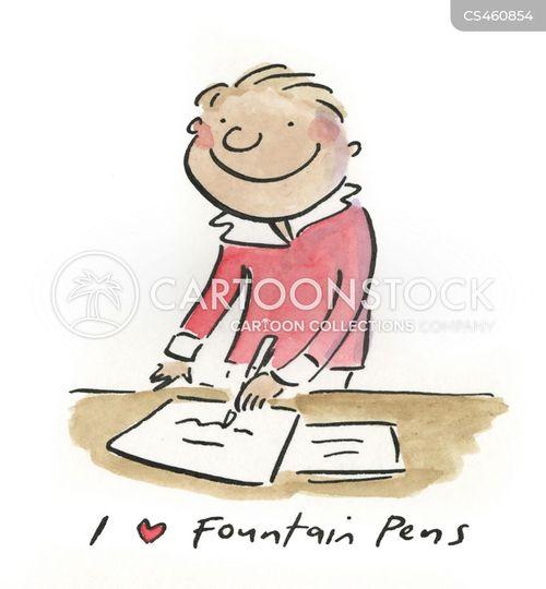 fountain pens cartoon