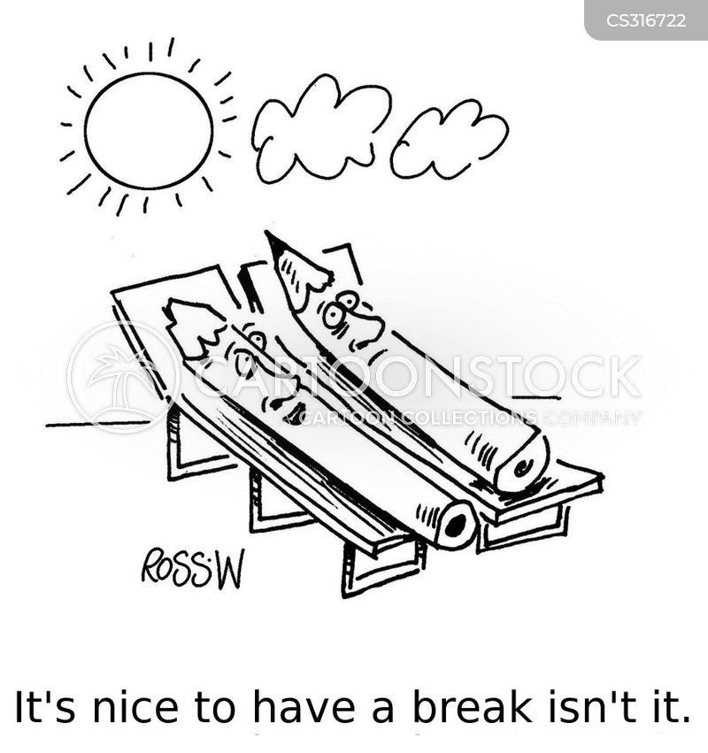 sunbathed cartoon