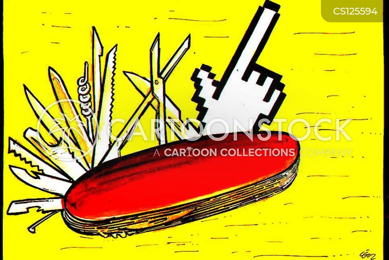 Pen Knife Cartoons And Comics Funny Pictures From