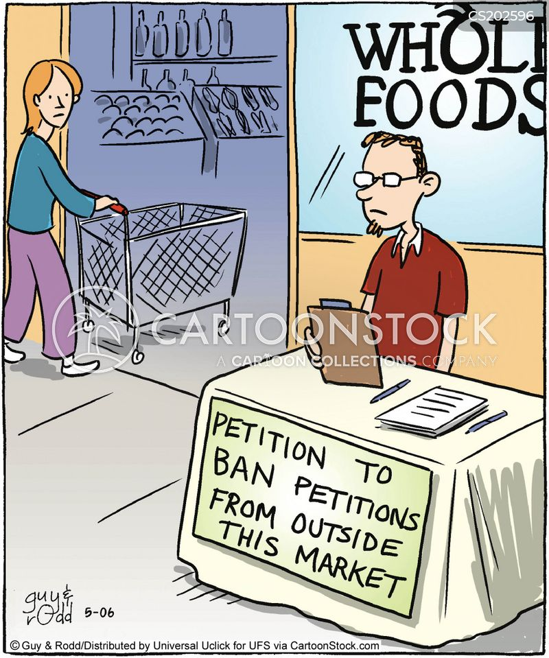 Image result for petition cartoon