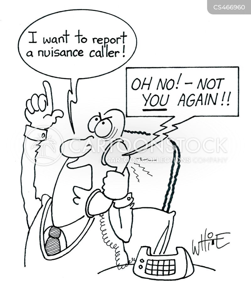 nuisance callers cartoon