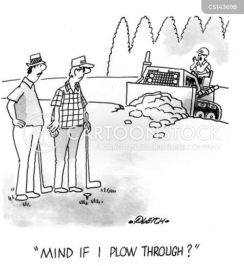 plowing cartoon