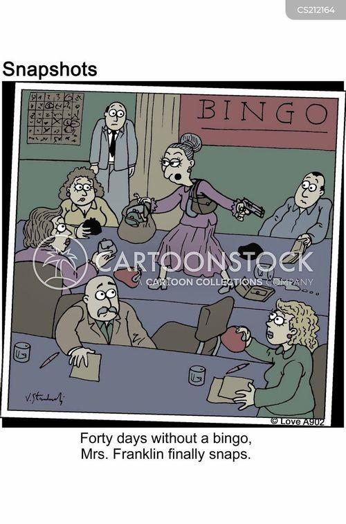 playing bingo cartoon