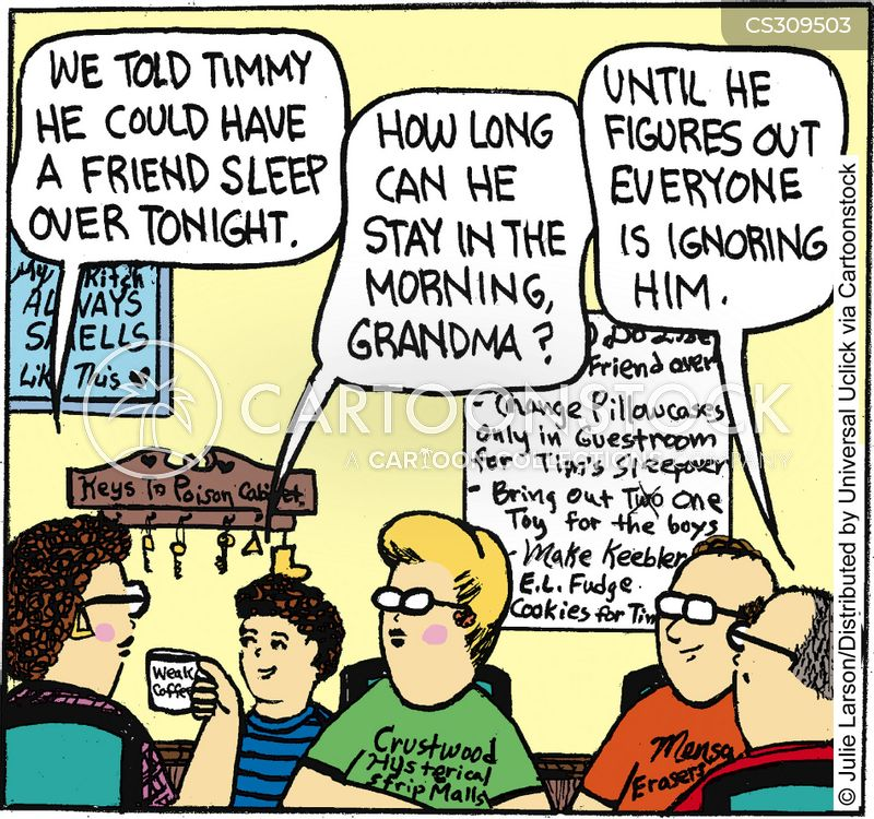 sleep over cartoon
