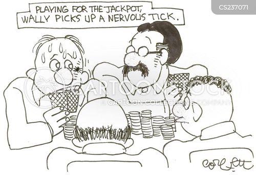 nervous tick cartoon