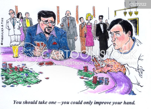 card hand cartoon
