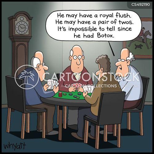 poker faces cartoon