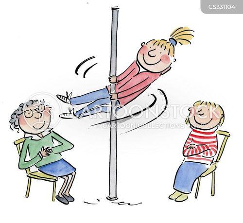 pole dancer cartoon