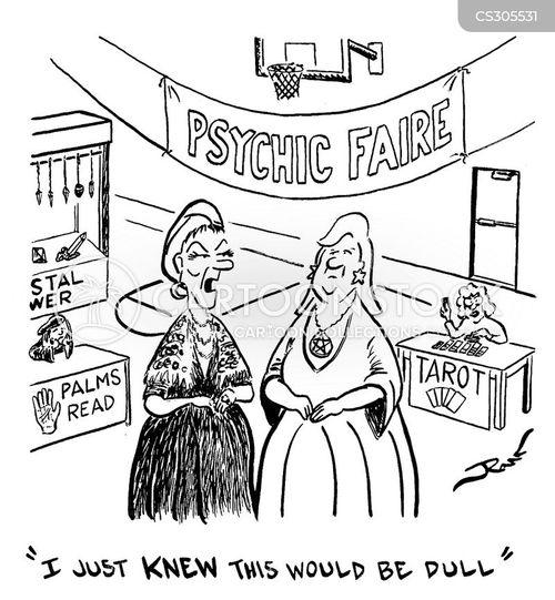 psychic phenomena cartoon