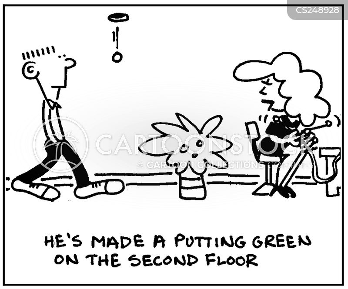 putting greens cartoon