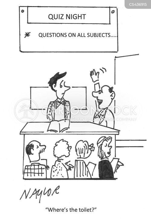 pub quizzes cartoon