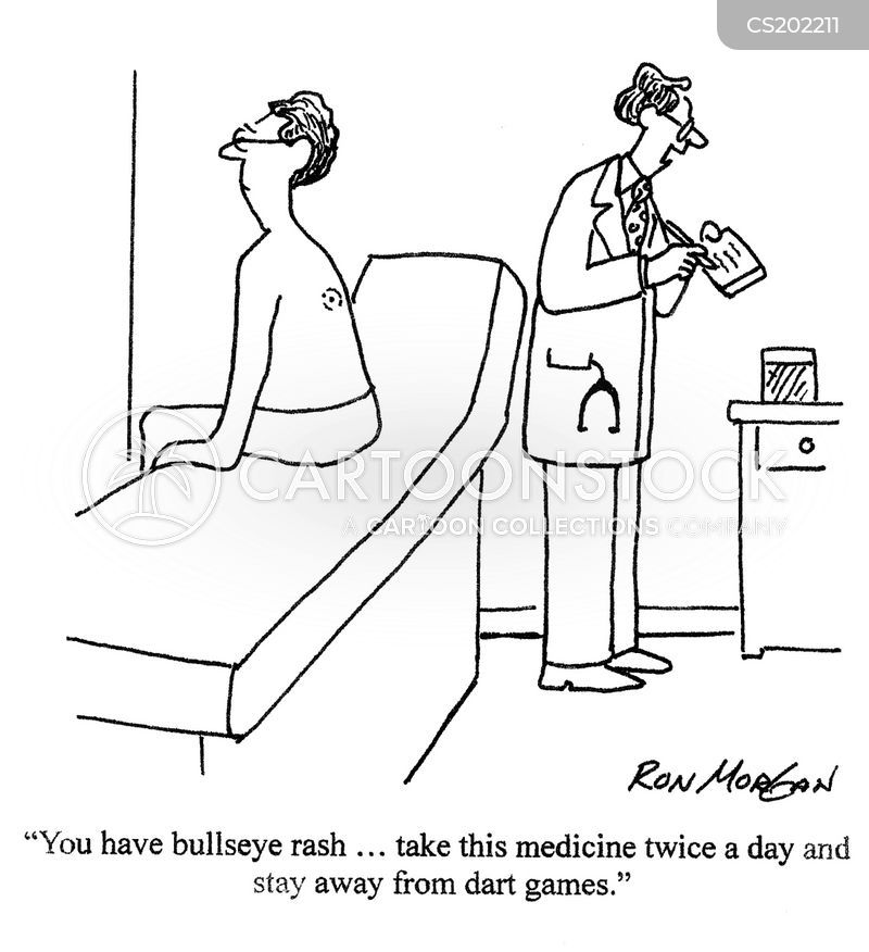 bullseye rash cartoon