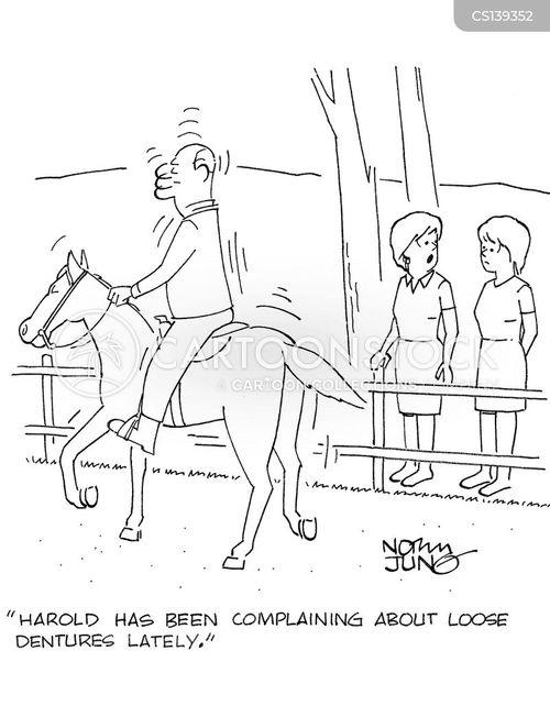 horseback rider cartoon