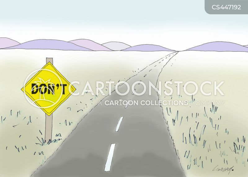 danger signs cartoon