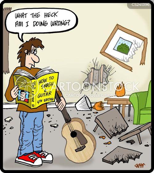 instruction books cartoon