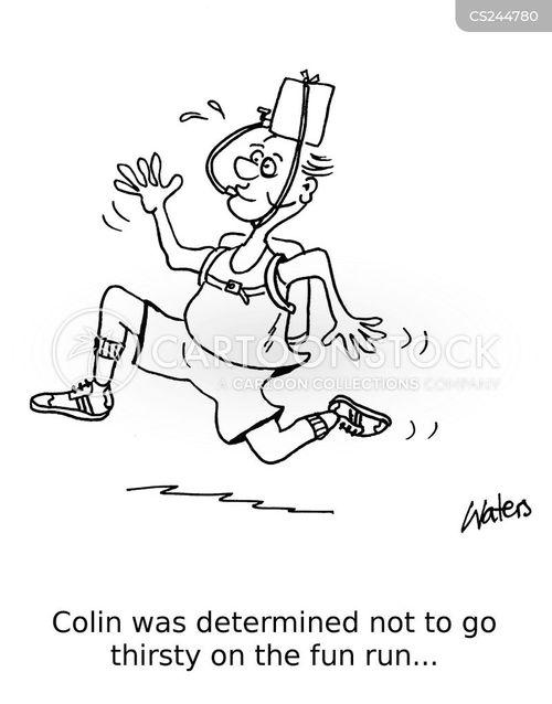 charity run cartoon