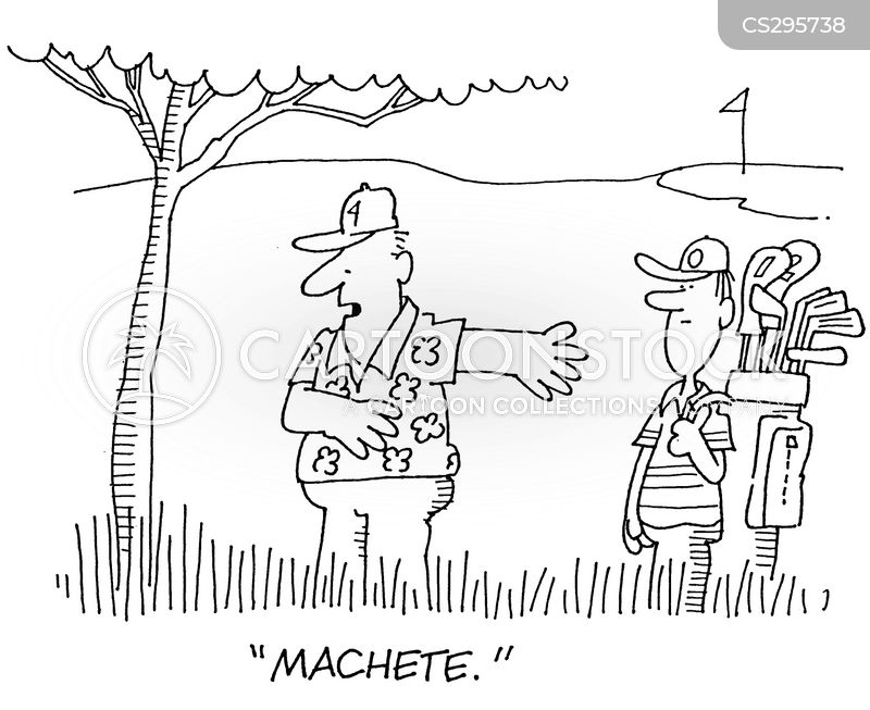 machetes cartoon