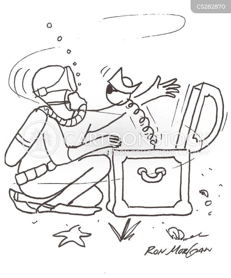 deep-sea diver cartoon