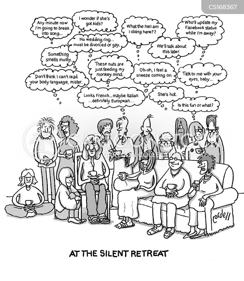 retreat cartoon