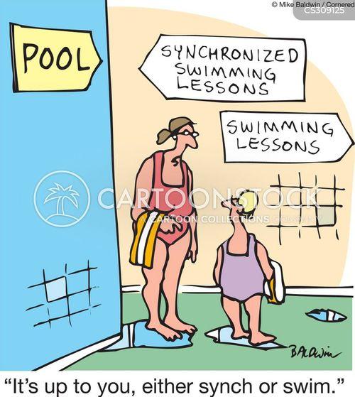 synchronized swim cartoon