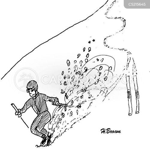 skiing lodge cartoon
