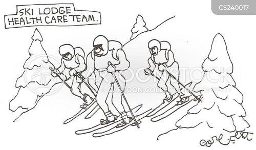 mountain rescuer cartoon