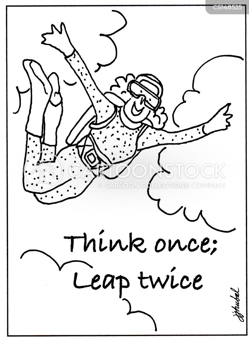 sky-divers cartoon