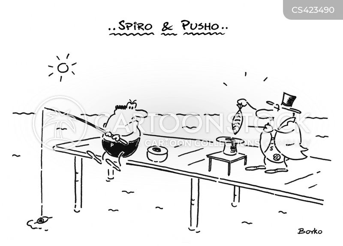 illusionist cartoon