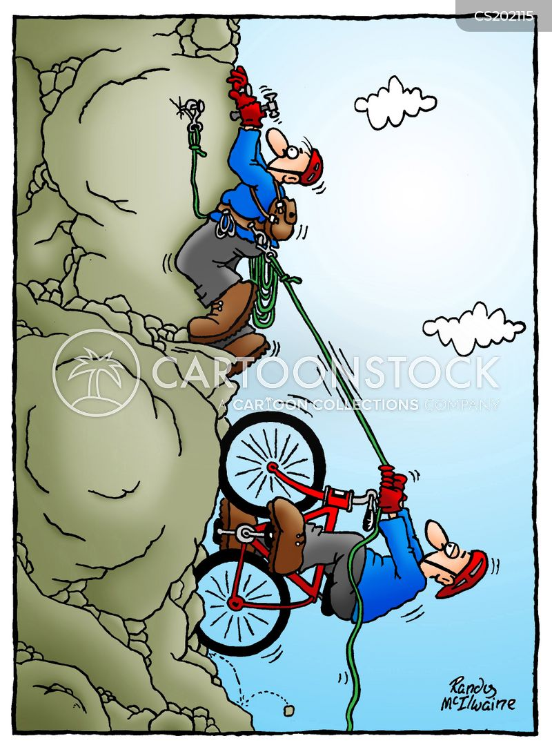 mountain bikes cartoon
