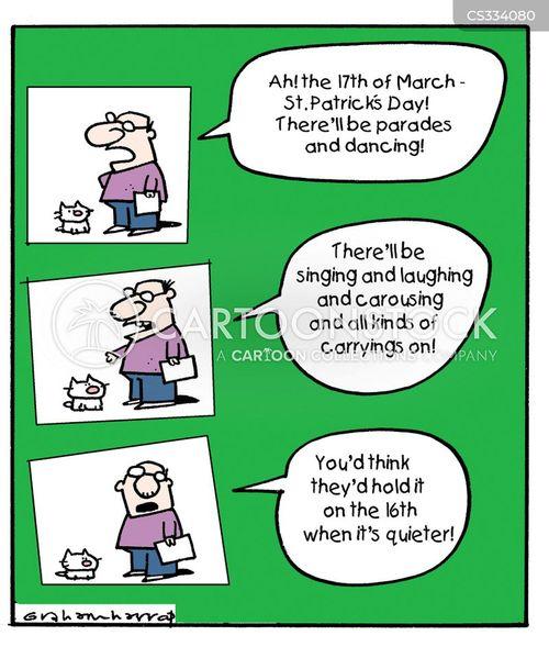 patricks day cartoon