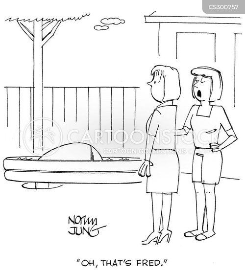 back yard cartoon