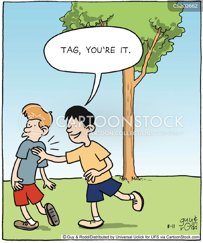 playground game cartoon
