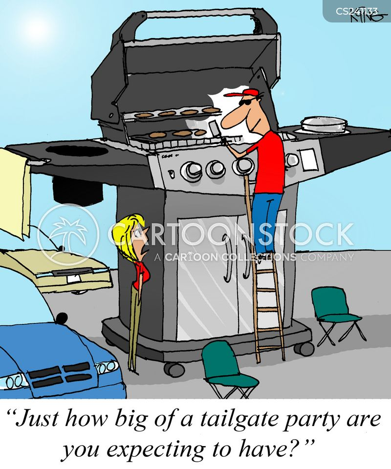 tailgating cartoon