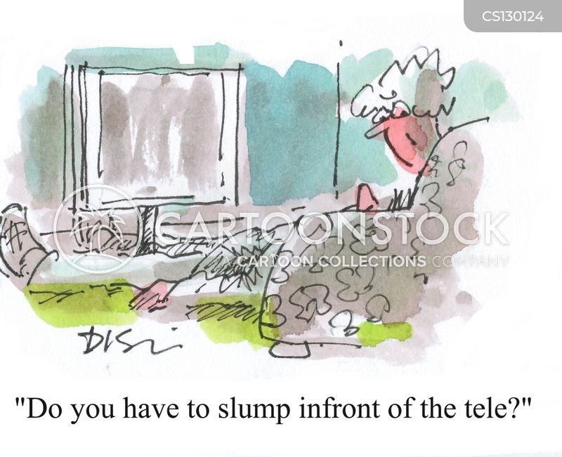 slumping cartoon