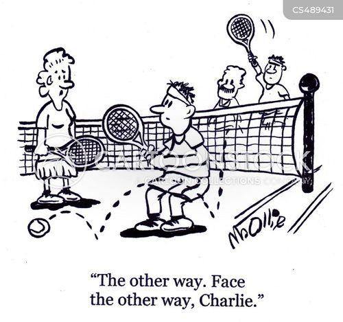 tennis club cartoon