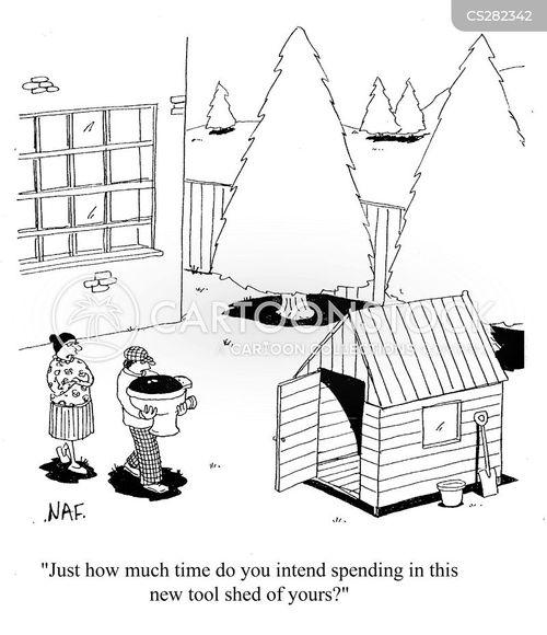 tool sheds cartoon