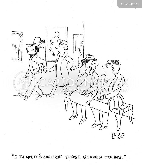 museum guide cartoon