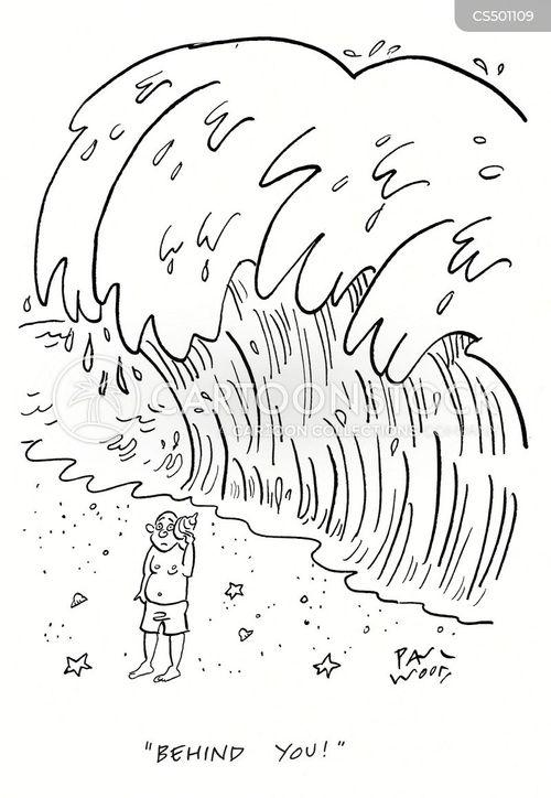 big waves cartoon