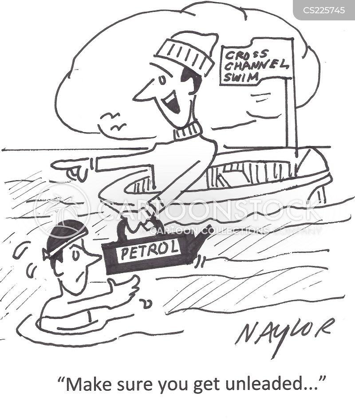 free swimmer cartoon