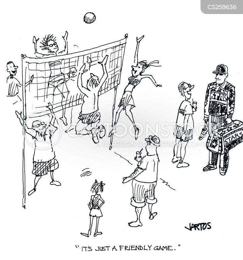 volleyball matches cartoon