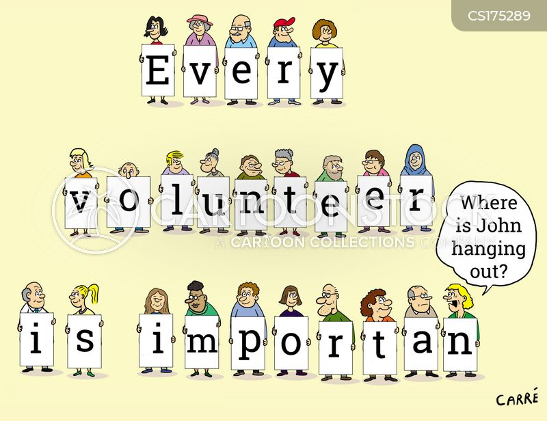 volunteer worker cartoon