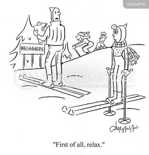 ski instructor cartoon