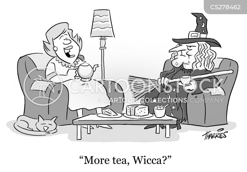 wiccan cartoon
