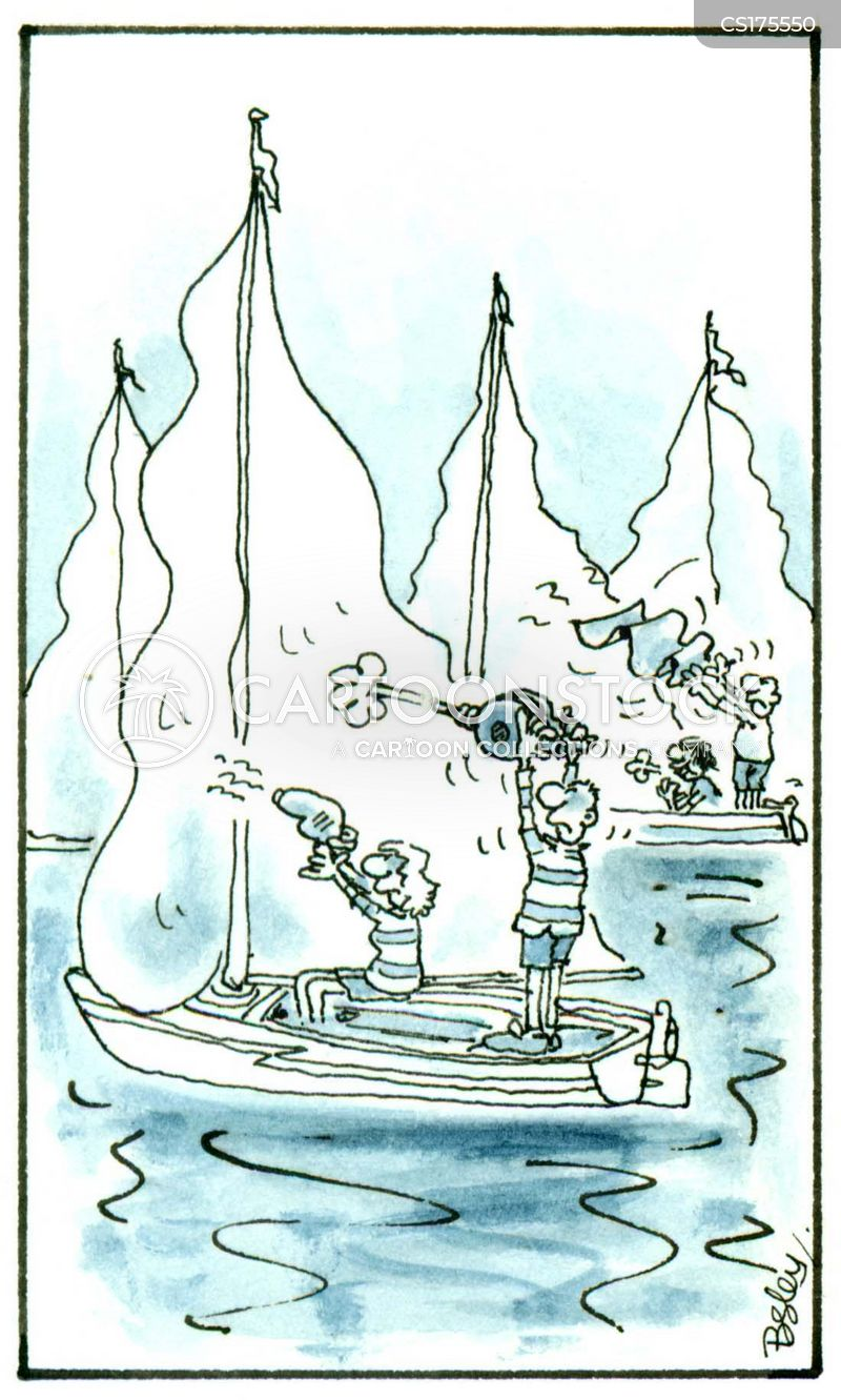 boat racing cartoon