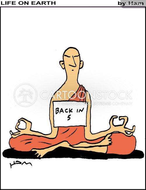 yoga practice cartoon