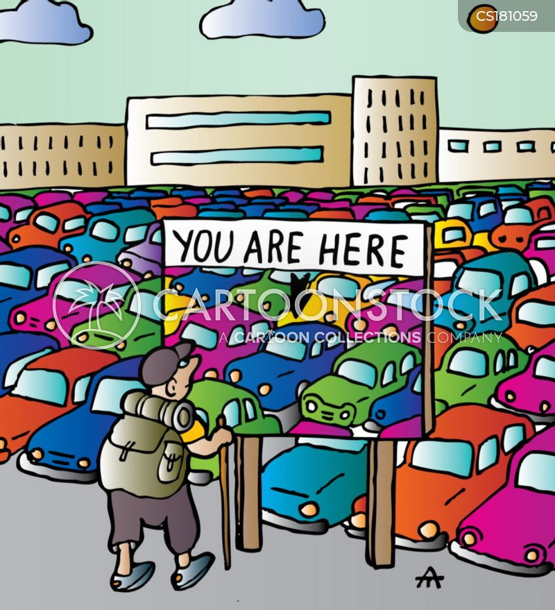 parking lots cartoon