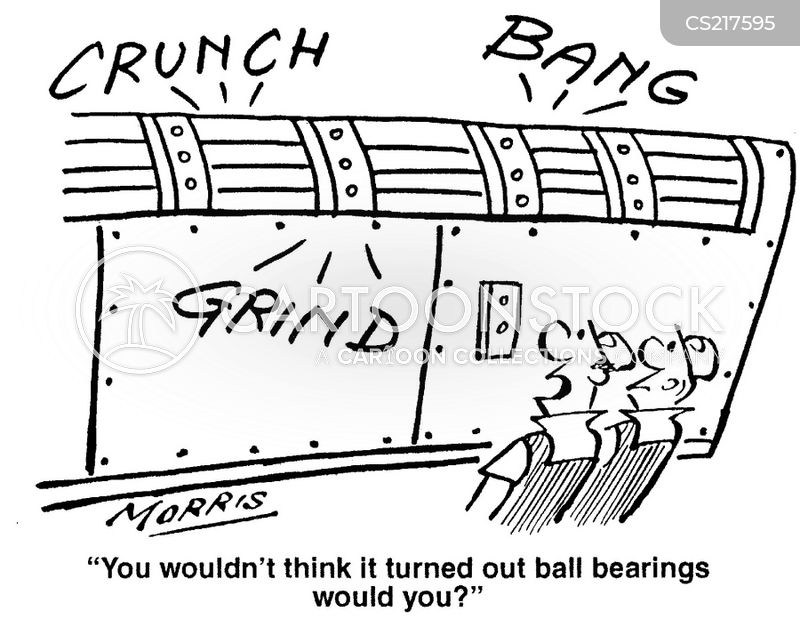 ball bearing factory cartoon